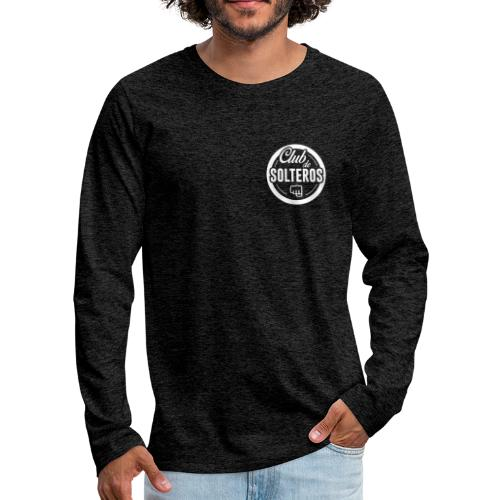 Club de Solteros (logo blanco) - Camiseta de manga larga premium hombre