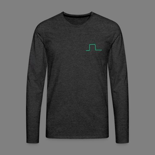 Wave Square - Männer Premium Langarmshirt