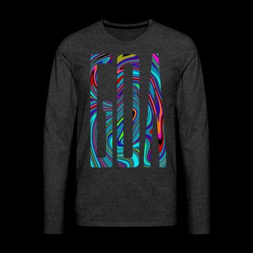 Goa Batik Style Shirt Design - Männer Premium Langarmshirt