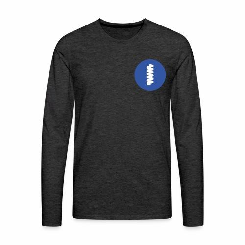 logomark in circular blue - Men's Premium Longsleeve Shirt