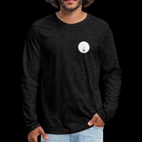 WSC Hipster-Logo rund weiß - Männer Premium Langarmshirt