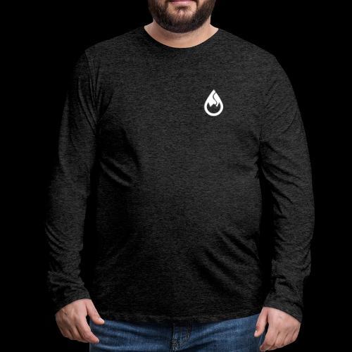 WS-Crew Tropfen-Logo weiß - Männer Premium Langarmshirt