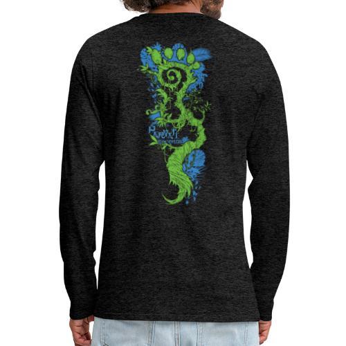 Parvati FootMoss logo in blue & green - Men's Premium Longsleeve Shirt