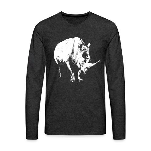 White Rhinoceros (highlights only) - Men's Premium Longsleeve Shirt