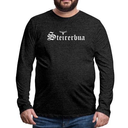 Steirerbua mit Hirsch - Männer Premium Langarmshirt