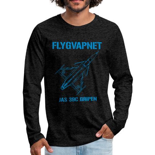 FLYGVAPNET - JAS 39C - Långärmad premium-T-shirt herr
