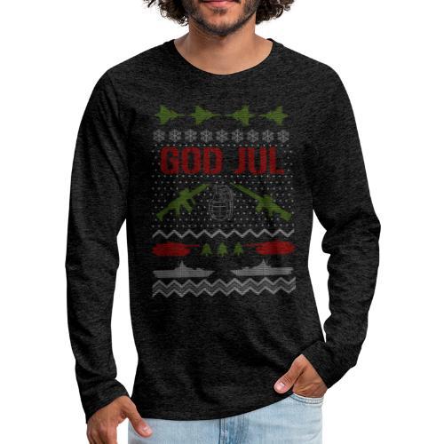 Ful jultröja - Ugly Christmas Sweater - Långärmad premium-T-shirt herr