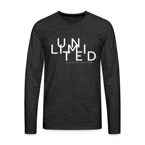 Unlimited white - Men's Premium Longsleeve Shirt