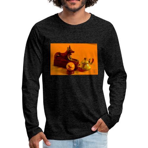 Anubi nel deserto - Maglietta Premium a manica lunga da uomo