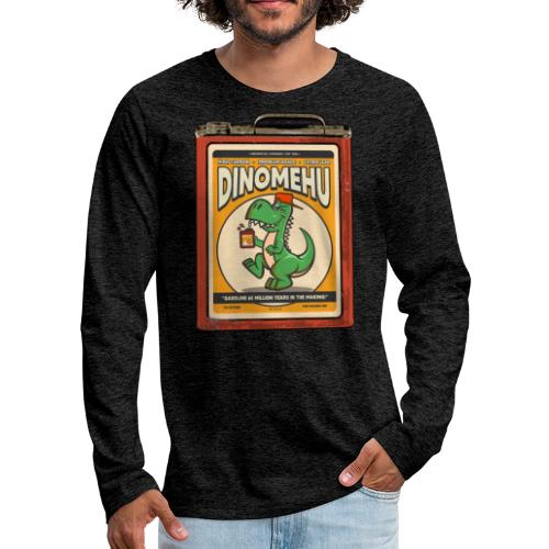 Dinomehu -kanisteri - Miesten premium pitkähihainen t-paita