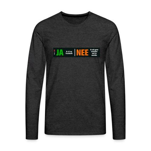 facebookvrienden - Mannen Premium shirt met lange mouwen