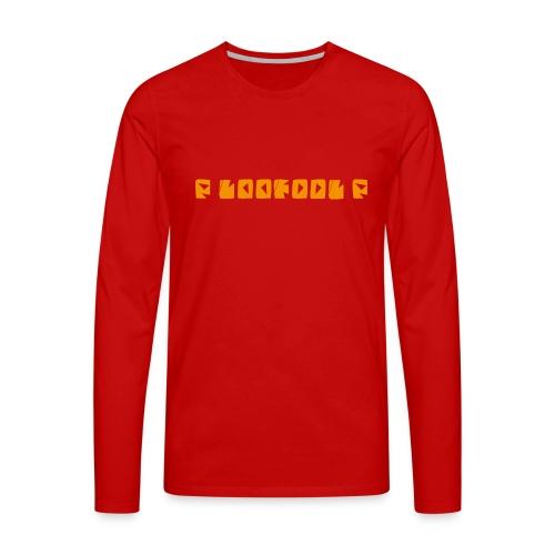 P loofool P - Orange logo - Premium langermet T-skjorte for menn
