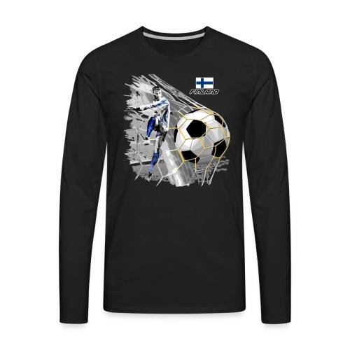 FP22F 05 FINLAND FOOTBALL - Miesten premium pitkähihainen t-paita