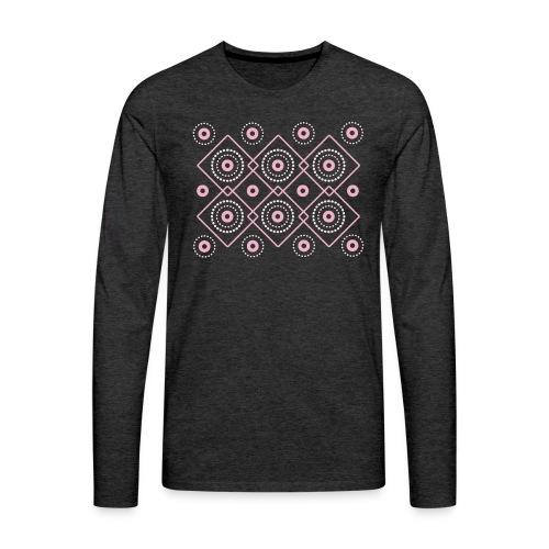 pink geometric print - Koszulka męska Premium z długim rękawem