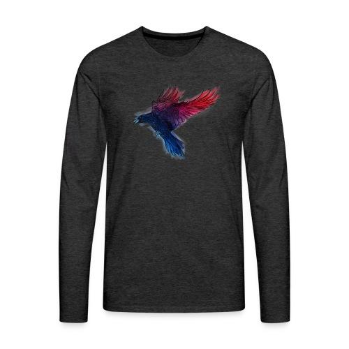 Watercolor Raven - Männer Premium Langarmshirt
