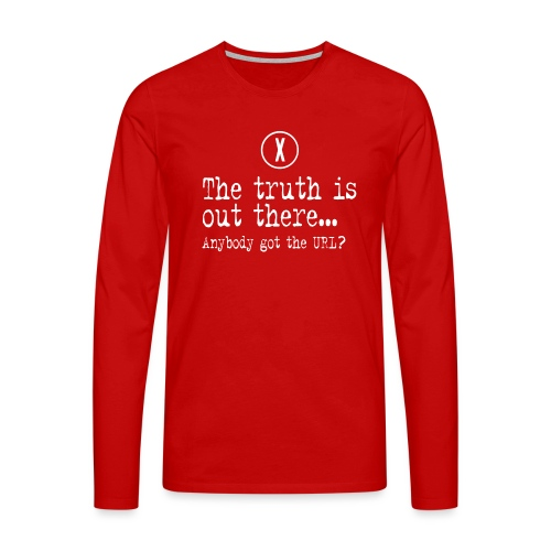 TheTruthIsOutThere - Mannen Premium shirt met lange mouwen