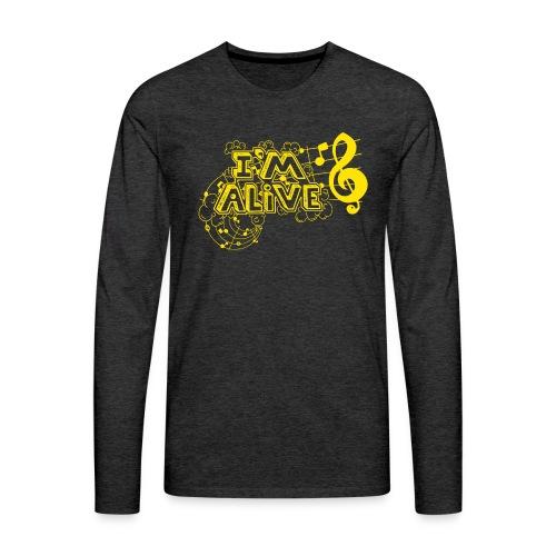 i m alive geel png - Mannen Premium shirt met lange mouwen
