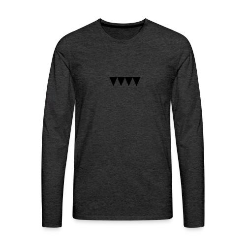 V i e r s c h w a r z e D r e i e c k e - Männer Premium Langarmshirt