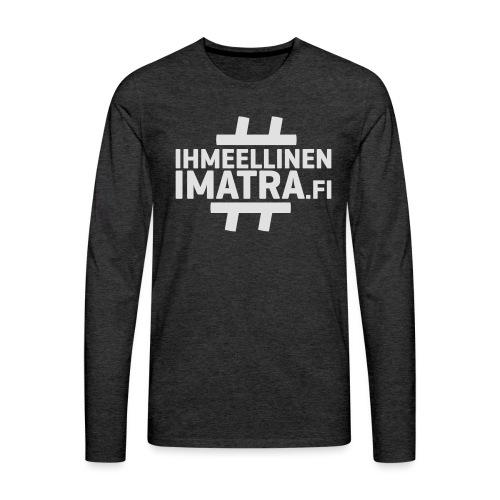 Ihmeellinen Imatra lippalakki - Miesten premium pitkähihainen t-paita