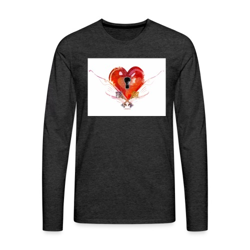 stvalentinmotif2 - T-shirt manches longues Premium Homme
