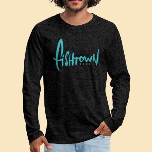 Fishtown 2850 handdrawn brightblue - Männer Premium Langarmshirt