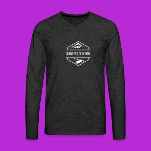 Hoodie White Logo - Men's Premium Longsleeve Shirt