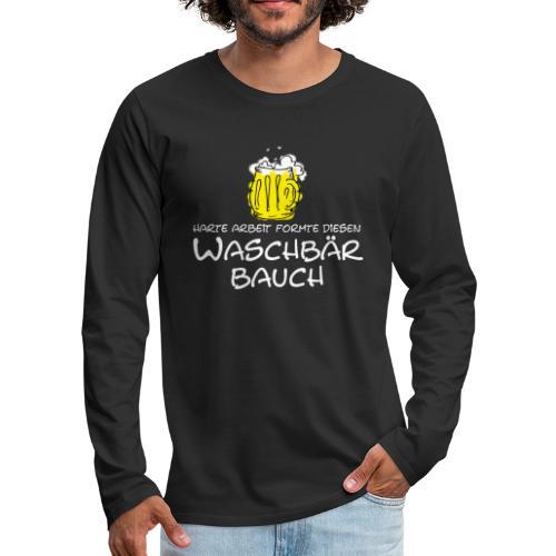 Waschbaerbauch - Männer Premium Langarmshirt