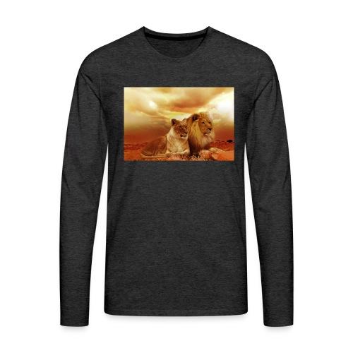 Löwen Lions - Männer Premium Langarmshirt