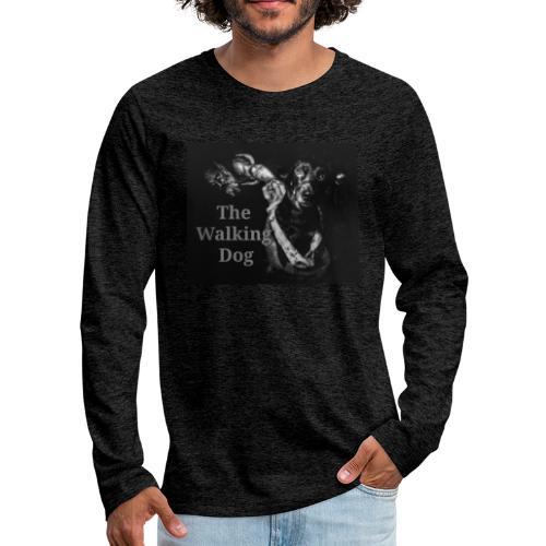 Pies spacerowy - Koszulka męska Premium z długim rękawem