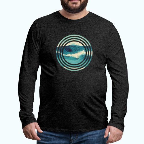 Wave vintage watercolor - Men's Premium Longsleeve Shirt