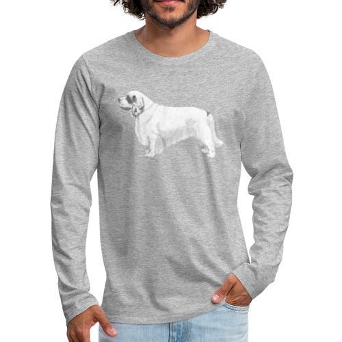 clumber spaniel - Herre premium T-shirt med lange ærmer
