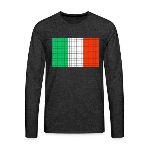 italian flag - Maglietta Premium a manica lunga da uomo