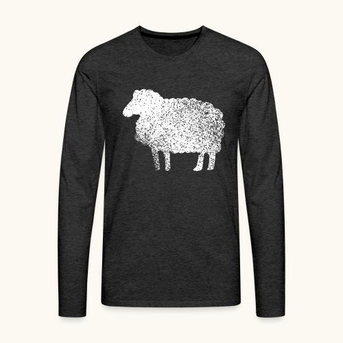 Lustiges Schaf Silhouette Grunge Geschenk Schäfer - T-shirt manches longues Premium Homme