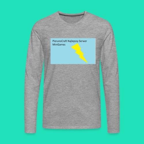 Koszulka Dla Dzieci PiorunoCraft - Koszulka męska Premium z długim rękawem