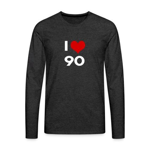 I love 90 - Maglietta Premium a manica lunga da uomo