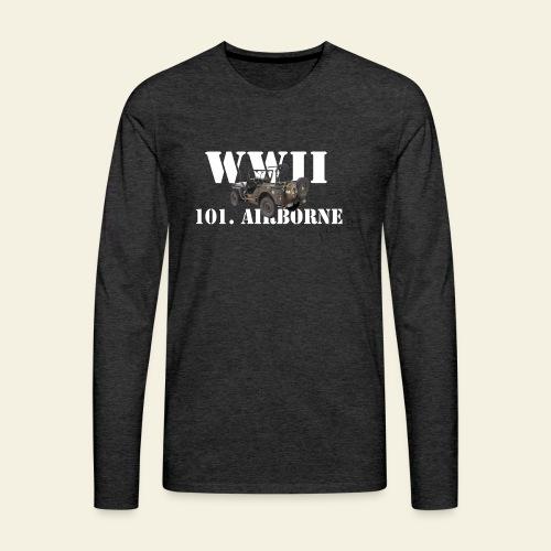 101 airborne png - Herre premium T-shirt med lange ærmer