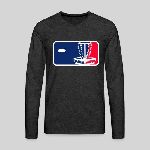 Major League Frisbeegolf - Miesten premium pitkähihainen t-paita