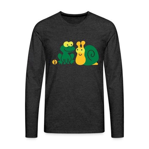 Frosch und Schnecke (c2) Freundschaft - Männer Premium Langarmshirt