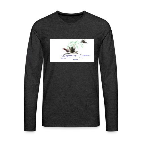 dino - Camiseta de manga larga premium hombre