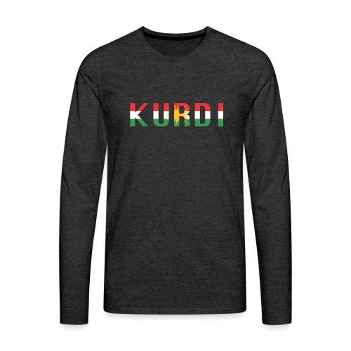 KURDI LOGO - Männer Premium Langarmshirt