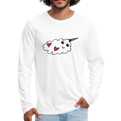 Nuage licorne Kawaii - T-shirt manches longues Premium Homme