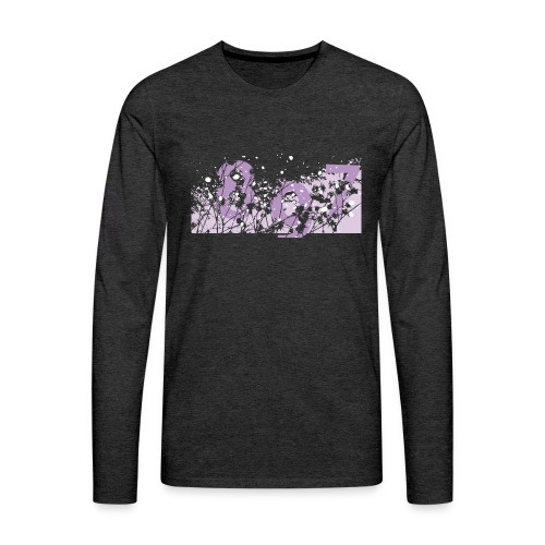 pink digital theme 897 - Koszulka męska Premium z długim rękawem