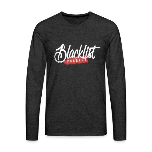 Blacklist Records - T-Shirt (Logo Blanc) - T-shirt manches longues Premium Homme