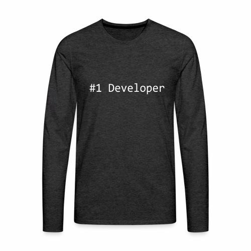 #1 Developer - White - Men's Premium Longsleeve Shirt