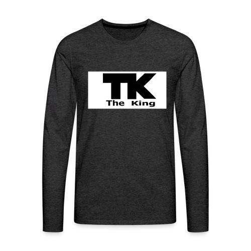 The King med ram - Långärmad premium-T-shirt herr