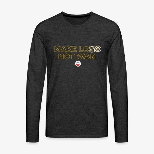 Make LOGO not WAR - Maglietta Premium a manica lunga da uomo