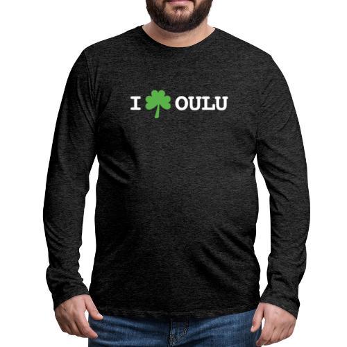 I shamrock Oulu - Classic Model - Miesten premium pitkähihainen t-paita