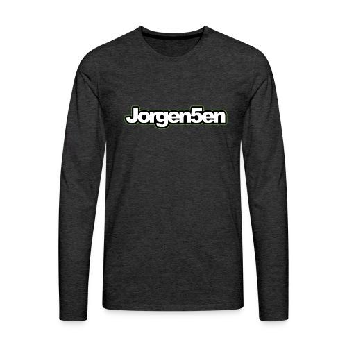 tshirt - Herre premium T-shirt med lange ærmer