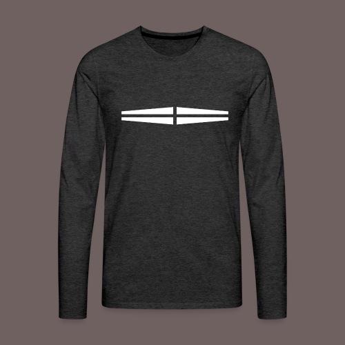 GBIGBO zjebeezjeboo - Rock - Traversant Blanc - T-shirt manches longues Premium Homme
