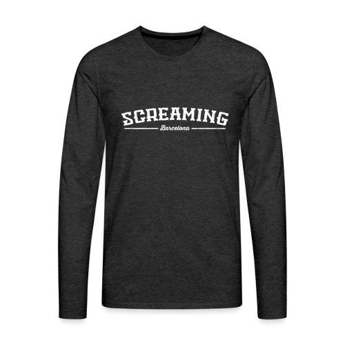 SCREAMING - Camiseta de manga larga premium hombre
